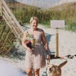 Dog beach wedding
